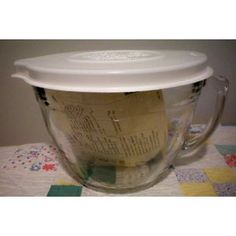Pampered chef batter bowl....bake... microwave..store and measure..
