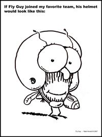 Coloring Page of Fly Guy