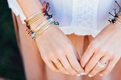 Power Gemstone Bracelets // Marlow Ring Set // Lola Ring