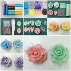 #DIY pretty rose from plastic bags--> http://wonderfuldiy.com/wonderful-diy-roses-from-plastic-bags/ #diyrose #crafts