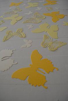 3D Muurvlinders gemaakt van card stock in Geel tinten door SierGoed, €21.50