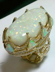 42 carat Australian opal ring