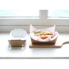 10 Kraft Paper Sandwich Tray2  swp0027 by verryberrysticker, $3.99