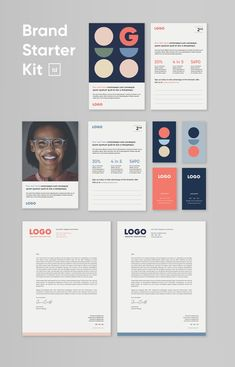 Brand Starter Kit for InDesign Collateral Design, Brand Identity Design, Branding Design, Identity Branding, Corporate Design, Corporate Identity, Visual Identity, Letterhead Template, Indesign Templates