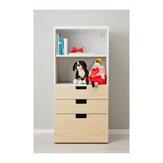 (Need 2). STUVA Storage combination with drawers, white, birch white/birch 23 5/8x19 5/8x50 3/8
