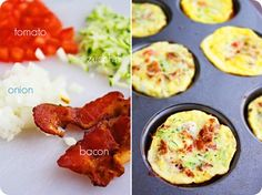 The Comfort of Cooking » Mini Vegetable and Bacon Frittatas