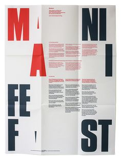 #03 - 3/5 Manifest by Almost Modern. I chose this piece because the arrangement of the headline was bold and unique while still being readable.