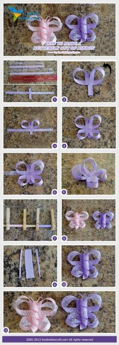 How to Make a Butterfly Feeder | How to make a butterfly out of ribbon | crafts tutorials by Ada123