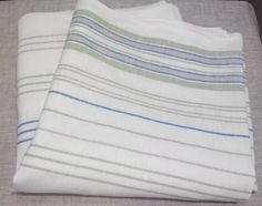 Linen cotton fabric Striped textile Eco friendly by Fabric1Yard