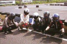 the GazettE Go-Karting. From left to right: Aoi, Reita, Ruki, Uruha and Kai (correct me if I'm wrong)