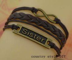 Charm  sisters bracelet infinity bracelet  the by CountrystyleDIY, $3.29
