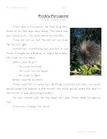 Prickly Porcupine -FirstGradeReading Comprehension Test: Use the information in the story to answer the 5 comprehension questions. Answer Key Is Included.