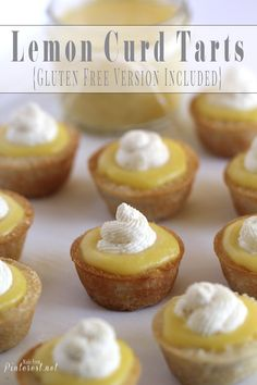 Lemon Curd Tarts - If you are a lover of lemon then you will LOVE these!