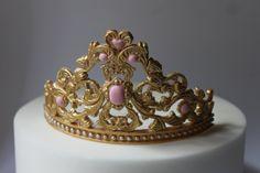 100% Edible fondant gum paste  Princess Tiara Cake by PaulasCakes