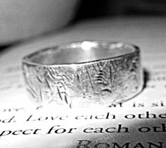 Mens Wedding Band Mens or Womens Thumb Rings by HisHeartMyArt