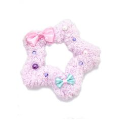 2-way Fluffy Star (Several colors) from Chocomint Lolita Desu (€13) ❤ liked on Polyvore featuring accessories, chocomint and fairy kei