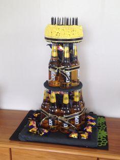 James beer tower cake 25th Birthday Cakes, 40th Birthday Decorations, 41st Birthday, Tea Party Birthday, Man Birthday, Husband Birthday Parties, Ideas Decoracion Cumpleaños, 40th Bday Ideas, Beer Tower