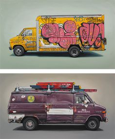 Vehicle Paintings by Kevin Cyr | Inspiration Grid | Design Inspiration