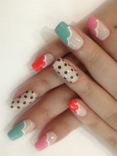 Polka Dot Nails by WuJingwen - Nail Art Gallery nailartgallery.nailsmag.com by Nails Magazine www.nailsmag.com