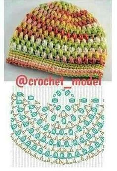 CROCHET PATTERN No. The Abby crochet beret pattern (Toddler, Child and Adult sizes) PDF pattern hat, spring beret pattern, pattern hat Bonnet Crochet, Crochet Cap, Crochet Motifs, Crochet Diagram, Crochet Patterns, Crochet Kids Hats, Crochet Beanie Hat, Crochet Crafts, Crochet Clothes