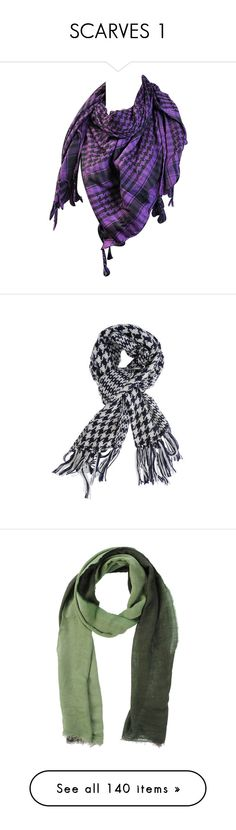 """SCARVES 1"" by kazza-smith ❤ liked on Polyvore featuring accessories, scarves, tartan shawl, purple shawl, houndstooth scarves, viscose scarves, black shawl, houndstooth shawl, woven scarves and braided scarves"