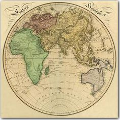 Eastern Hemisphere Map, 1831
