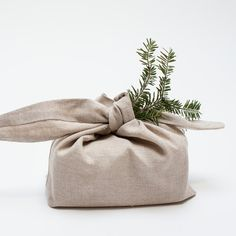 linen wrapping bag