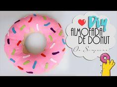 DIY: Almofada de Donut   Os simpsons   Sem costura, super fácil! - YouTube