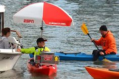 A baseball game without a hot dog? Not if pro kayaker London Van Der Kamp can help it.