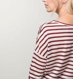 CAMISETA RAYAS MANGA LARGA - Top Ventas - Camisetas - WOMEN - España - Massimo Dutti