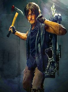So sexy its not even funny - Daryl Dixon in Season 4 #daryldixon #thewalkingdead #amc