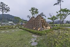 "This Bamboo Forest pavilion is constructed for the 30th anniversary exhibition ""The Asian Everyday: Possibilities in the Shifting World"" at TOTO GALLERY MA, one of the Japanese most influential galleries for architecture and design, located in Tokyo. Vo Trong Nghia Architects (VTN) chose a species of bamboo local to Vietnam to display the accustomed process of realizing their bamboo structures."