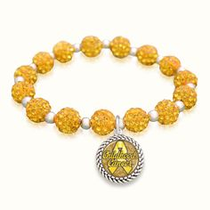 Childhood Cancer Awareness Sparkle Stretch Bracelet for only $9.98! // Perfect gift for your next fundraising event!