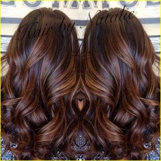 Brunette hair color 00007