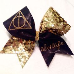 Harry Potter Inspired Cheer Bow from ChampionCheerBows on Etsy. Saved to Champion Cheer Bows. Cute Cheer Bows, Cheer Mom, Big Bows, Cheer Hair Bows, Harry Potter Merchandise, Harry Potter Diy, Cheerleading Bows, Diy Hair Bows, Mickey Ears