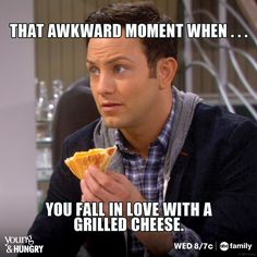 Yum!!!! We've all been there! Don't miss all new episodes of Young & Hungry Wednesdays at 8/7c on ABC Family!