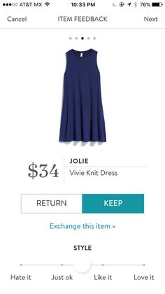 Jolie Vivie Knit Dress. I love Stitch Fix! A personalized styling service and it's amazing!! Simply fill out a style profile with sizing and preferences. Then your very own stylist selects 5 pieces to send to you to try out at home. Keep what you love and