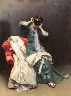 Raimundo de Madrazo y Garreta 1841-1920 preparing for the costume ball