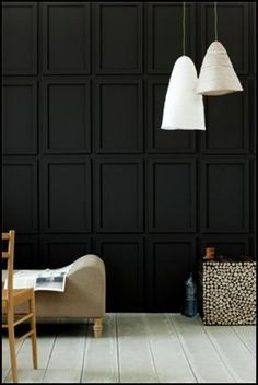 Amazing and Unique Tricks Can Change Your Life: Wainscoting Shelf Bookshelves wainscoting interior house.Diy Wainscoting Dining Room wainscoting board and batten basements. Accent Wall, Navy Blue Walls, Living Room Diy, Black Walls, Wall Molding, Black Panels, Interior Walls, Wall Design, Wall Paneling