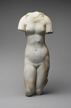 Marble statue of Aphrodite Period: Imperial Date: 1st or 2nd century A.D. Culture: Roman