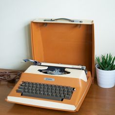 "vintage typewriter -mine was a ""silent type Corona!!!!  Fabulous (I thought)."