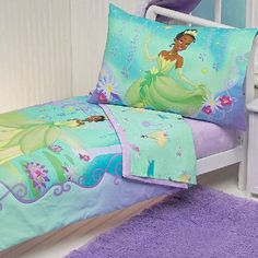 Blue And Green Princess And The Frog Bedding Set Fills Your Kids Room With Freshness
