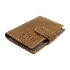 Hnědé pouzdro na karty - peněženky AHAL