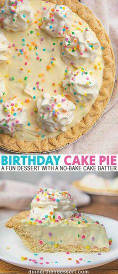 Köstliche Desserts, Delicious Desserts, Dessert Recipes, Yummy Food, Quick Dessert, Dessert Healthy, Recipes Dinner, Dinner Dessert, Pie Dessert