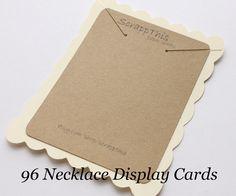 96 Necklace Display Cards-Jewelry Displays-Kraft and Cream-Custom Printing. $29.00, via Etsy.