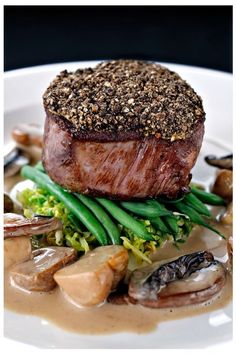 NICK NAIRN is Scotland Now's guest chef for this month. Here he shares the recipe to one of his favourite dishes - peppered fillet of beef with whisky sauce. Gourmet Recipes, Beef Recipes, Cooking Recipes, Easy Recipes, Fillet Steak Recipes, Steak Dishes, Meat Appetizers, Other Recipes, Food Presentation
