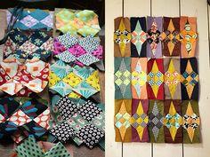 Les débuts de Glitter , un patchwork de Jenkingwell... Nous sommes deux copines extrêmement passionnées de couleurs et de patch ...(...
