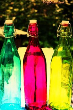 Pretty glass bottles
