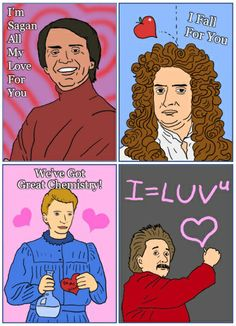 David Friedman of Ironic San made these scientist Valentine's day cards, they're AWESOME! Little Valentine, Valentine Day Cards, Be My Valentine, Science Valentines, Love Days, Funny Cards, All You Need Is Love, E Cards, Holiday Crafts