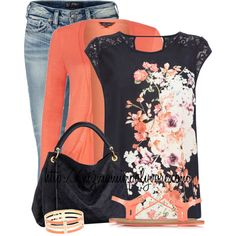 A fashion look from April 2014 featuring Oasis tops, Silver Jeans Co. jeans and Forever 21 sandals. Browse and shop related looks. Fashion Moda, Cute Fashion, Look Fashion, Autumn Fashion, Womens Fashion, Mode Outfits, Casual Outfits, Fashion Outfits, Style Fruit